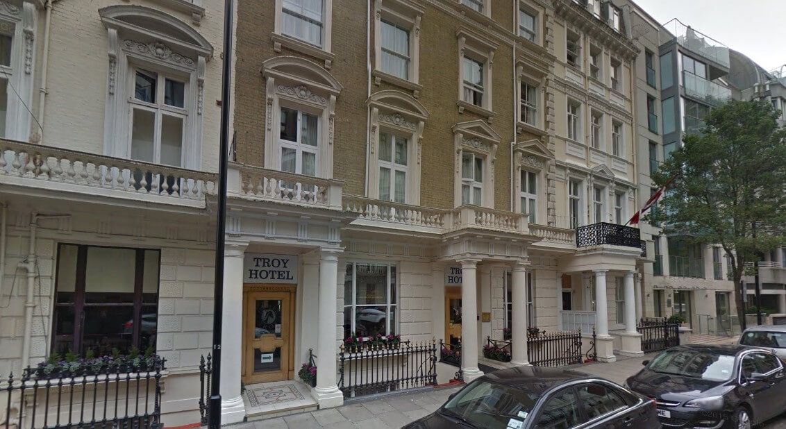 troy hotel london